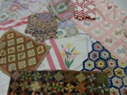 Ten Assorted Pieced Cotton and Wool Quilts and Coverlets