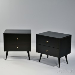 Two Paul McCobb Planner Group Nightstands