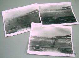 Three Photographic Negatives and Prints, Purportedly the 1912 Boston Red Sox at Fenway Park, Boston, Massachuse...