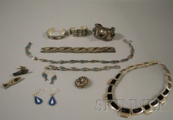 Group of Mostly Mexican Sterling Silver Jewelry