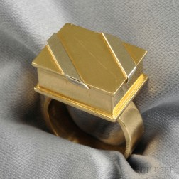 "18kt Bicolor Gold ""Candy Box"" Ring, Noma Copley"