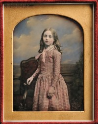 William Edward Kilburn (British, 1818-1891)      Hand-tinted Quarter-plate Daguerreotype of a Girl