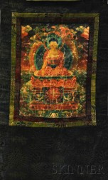 Thangka Depicting Medicine Buddha