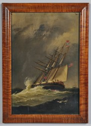 American School, Late 19th Century      Ship in High Seas