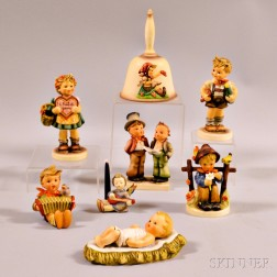 Eight Hummel Figures.     Estimate $100-150