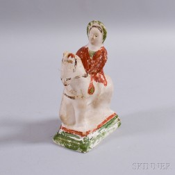 Chalkware Figure of Queen Victoria on Horseback