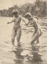 Anders Zorn (Swedish, 1860-1920)      Two Bathers