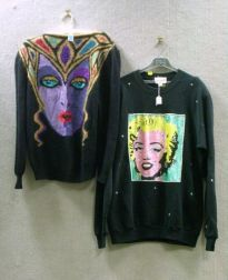 Bob Mackie Wool and Angora Sweater and a Jeanette Sequined Marilyn Monroe Sweater.