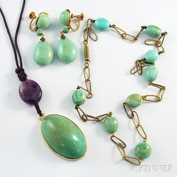 Three Pieces of Turquoise Jewelry