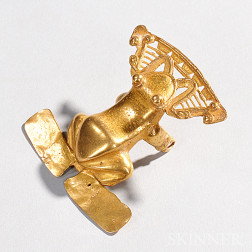 Large Pre-Columbian Gold Frog