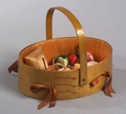 Shaker Maple Sewing Carrier with Sewing Notions