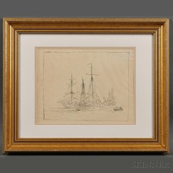 British School, 19th Century      Sailing Vessels