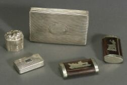 Five Small Silver and Metal Mounted Boxes