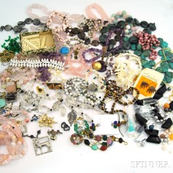 Group of Hardstone and Costume Jewelry