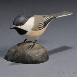 Jess Blackstone Miniature Carved and Painted Chickadee Figure