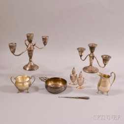 Eight Sterling Silver Tableware Items