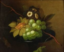 Manner of James Peale (American, 1749-1831)  Still Life with Grapes