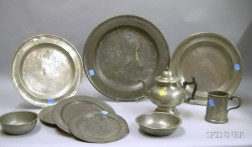 Ten Pieces of Pewter Tableware
