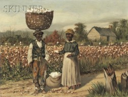 William Aiken Walker (American, 1838-1921)      Sharecroppers in the Cotton Field