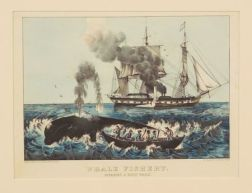 Currier & Ives, publishers (American 1857-1907)    Whale Fishery:  Attacking a Right Whale.