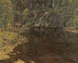 John Joseph Enneking (American, 1841-1916)      Trout Brook / A North Newry, Maine Landscape