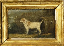 Anglo/American School, 19th Century       Portrait of a Dog.
