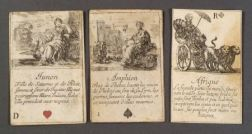 Twenty-six French Copper Engraved Playing Cards