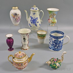 Nine English Porcelain Items