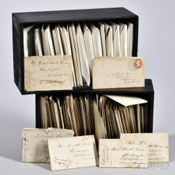 Letters and Covers, 19th Century American, Two Boxes.