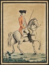 Paul Revere, Jr. (Boston, 1734-1818)      Portrait of Major John Pitcairn on Horseback.