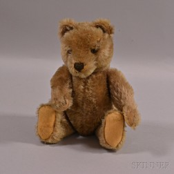 Tan Articulated Mohair Teddy Bear