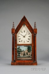 Rosewood Twin Spire Steeple Clock by Terry & Andrews