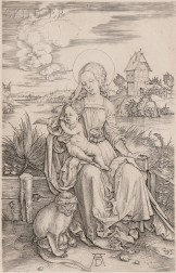 Albrecht Dürer (German, 1471-1528)      The Virgin and Child with Monkey