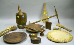 Group of Assorted Country Domestic Woodenware