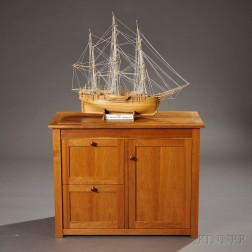 Geoffrey Warner Cabinet and a Ship Model