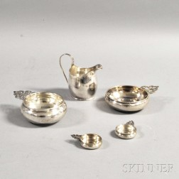 Five Sterling Silver Items