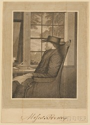 Engraved Portrait of Moses Brown