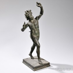 Grand Tour Bronze Model of a Satyr
