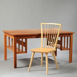Thomas Moser New Century Desk and Catena Side Chair