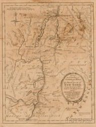 Thomas Kitchin Map of Charlotte and Albany New York