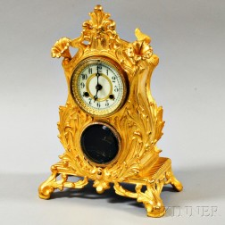 "Waterbury Gilt-metal ""Carlisle"" Mantel Clock"