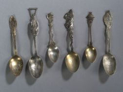 Group of Thirty Sterling Souvenir Spoons of New England