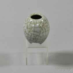 Crackle-glazed Water Coupe
