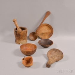 Eight Pieces of Treen