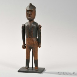 Carved and Painted Figure of a Man