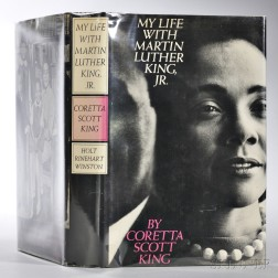 King, Coretta Scott (1927-2006) My Life with Martin Luther King, Jr.   Inscribed Copy.