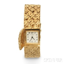 Lady's 18kt Gold Covered Wristwatch