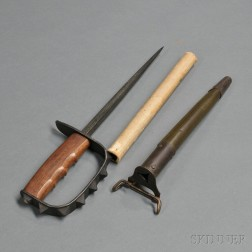 Unissued Model 1917 Trench Knife and Scabbard