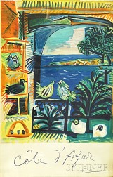 After Pablo Picasso (Spanish, 1881-1973)      Cote d'Azur   Travel Poster