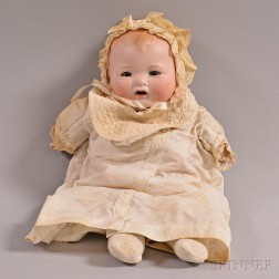 "Armand Marseille ""Baby Gloria"" Character Bisque Head Doll"